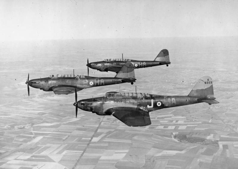 Fairey Battles in formation